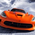 2014 DODGE VIPER SRT TA Orange color