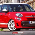 FIAT 500L ABARTH render by XTOMI DESIGN