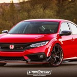 HONDA CIVIC SEDAN TYPE-R rendering by X-TOMI DESIGN