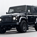 Black LAND ROVER DEFENDER Kahn Design HARRIS TWEED EDITOON