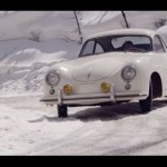 PORSCHE 356 SPYDER drift in the snow